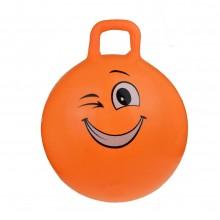 Minge gonflabila de sarit, pentru copii, model emoticon portocaliu, 55 cm
