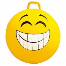 Minge gonflabila de sarit, pentru copii, model smiley face galben, 65 cm