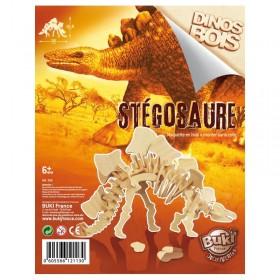 Paleontologie - Dinozaur din lemn Stegosaurus - Buki