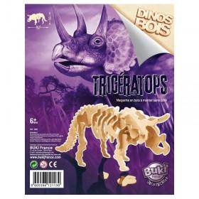 Paleontologie - Dinozaur din lemn Triceratops - Buki