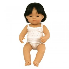 Papusa Baby asiatic (baiat) - 38 cm - cutie cadou
