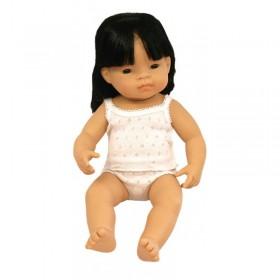Papusa Baby asiatic (fetita) - 38 cm - cutie cadou