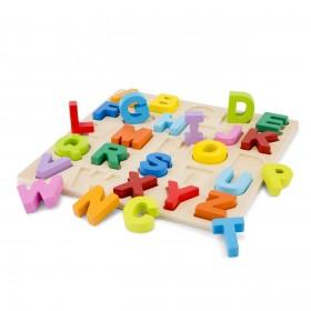 Puzzle Alfabet Litere Mari - New Classic Toys