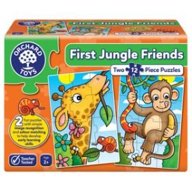 Puzzle Primii Prieteni din Jungla - FIRST JUNGLE FRIENDS - Orchard Toys