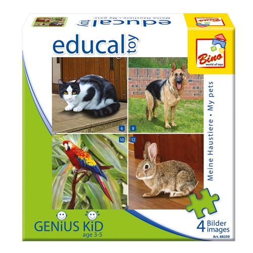 Puzzle cu animale domestice - Bino