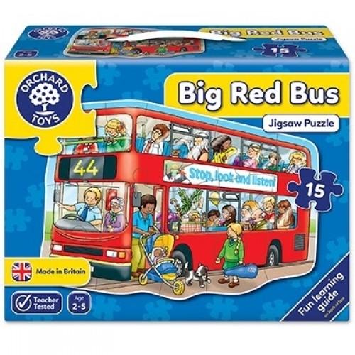 Puzzle de podea Autobuzul (15 piese) - Big Bus - Orchard Toys