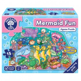 Puzzle de podea Distractia Sirenelor - MERMAID FUN PUZZLE - Orchard Toys