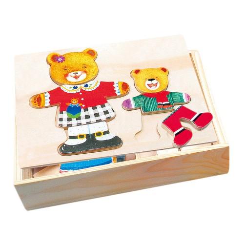 Puzzle din lemn - Mama si copilul - Bino