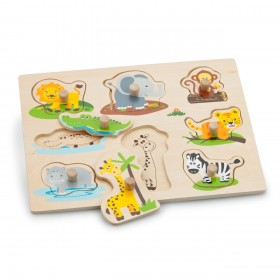 Puzzle lemn Safari - New Classic Toys