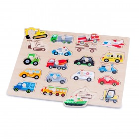 Puzzle lemn Vehicule - New Classic Toys