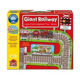 Puzzle podea Calea ferata - Giant Railway - Orchard Toys