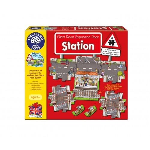 Puzzle podea Statie de tren - Giant Road Expansion Pack Station - Orchard Toys