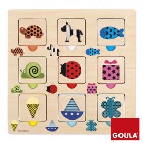 Puzzle - texturi si culori - Goula
