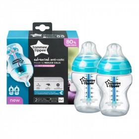 Set 2 biberoane anticolici Advanced cu sistem de ventilatie 260 ml Tommee Tippee
