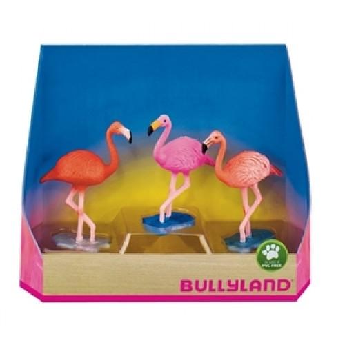 Set 3 figurine Flamingo - Bullyland