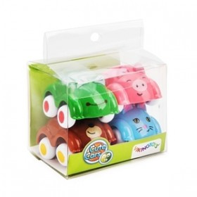 Set 4 Masinute Animale - Cute Cars - Viking Toys