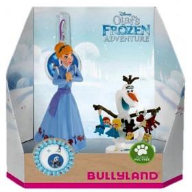 Set Anna + Olaf cu medalion - Olafs Frozen Adventure - Bullyland