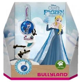 Set Elsa + Olaf cu medalion - Olafs Frozen Adventure - Bullyland
