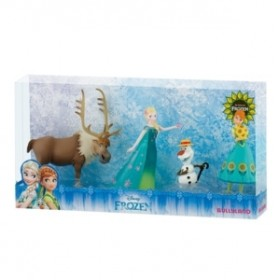Set Frozen Fever Deluxe -  Elsa, Anna, Olaf si Sven - Bullyland