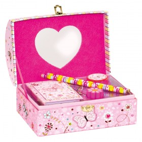 Set cadou in cutie bijuterii Fluturasi - Bino