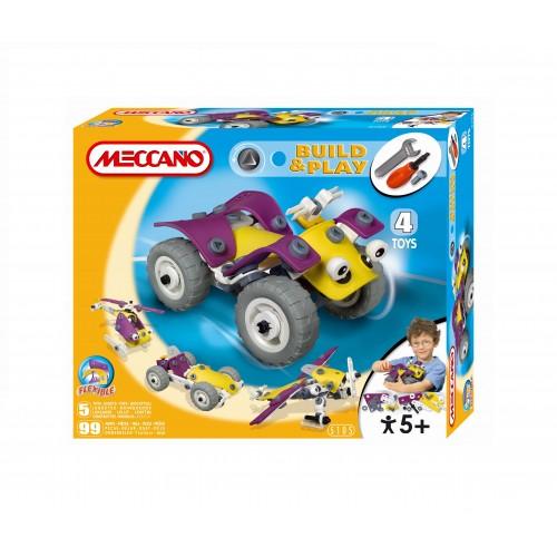 Set constructie 4 in 1 Meccano Build & Play - ATV, 99 piese
