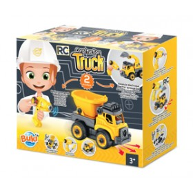 Set constructie Camion Autobasculanta si Excavator cu radiocomanda - Buki