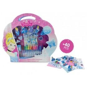 Set creativ mare cu stampile 40 piese Disney Princess - D`Arpeje