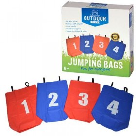 Set de 4 saci pentru sarit 90 x 60 cm, cu 2 manere - Outdoor Play