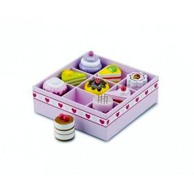 Set de 9 prajituri in cutie de cadou New Classic Toys