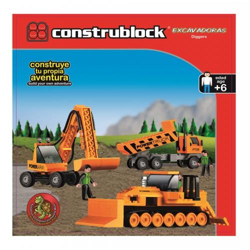 Joc de constructie - Excavatoare - Construblock