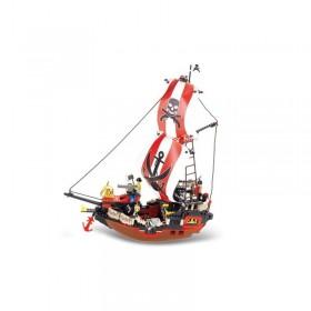 Set de constructie Sluban – Corabie pirati mare