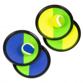 Set de joaca Arunca si Prinde - Catch the Ball, cu 2 discuri de prindere si o minge