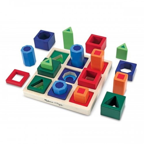 Set incastre Forme de sortat pe tabla - Melissa and Doug