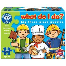 Set mai multe puzzle Meserii (3 piese) WHAT DO I DO? - Orchard Toys