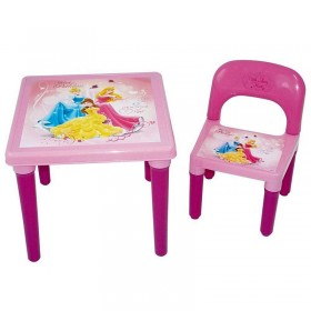 Set masa, scaun si accesorii creative 30 piese Disney Princess - D`Arpeje