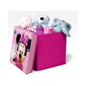 Taburet şi cutie depozitare jucării Disney Minnie Mouse