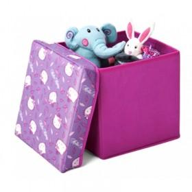 Taburet şi cutie depozitare jucării Hello Kitty