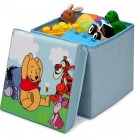Taburet şi cutie depozitare jucării Disney Winnie the Pooh