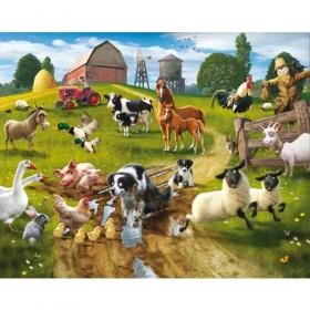 Tapet pentru Copii Farmyard Fun - Walltastic