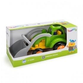 Tractor Excavator culori vesele cu 1 figurina - Jumbo - Viking Toys