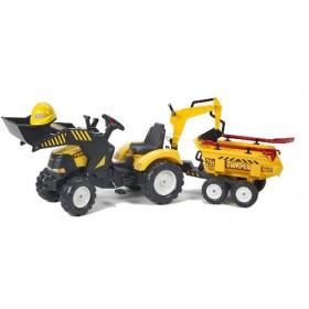 Tractor Powerloader cu Cupa, Remorca si Accesorii - Falk