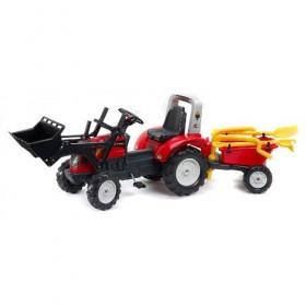 Tractor cu Remorca Ranch Trac Rosu - Falk