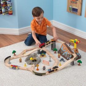 Trenuleț din lemn Bucket Top Construction cu set de accesorii - KidKraft