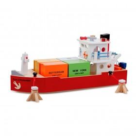 Vas cu 4 containere - New Classic Toys