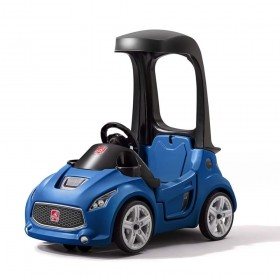 Vehicul albastru Turbo Coupe Foot-to-Floor - Step2