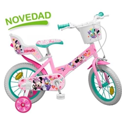 """Bicicleta 14"""" Minnie Mouse Club House - fete - Toimsa"""