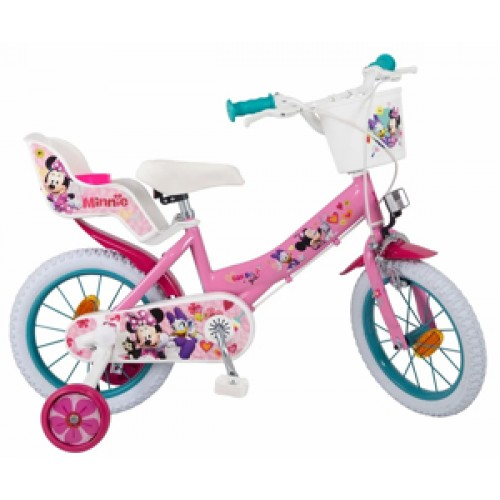 "Bicicleta 14"" Minnie Mouse Club House - fete - Toimsa"