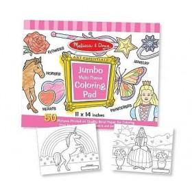 Caiet jumbo cu desene pentru colorat - Roz