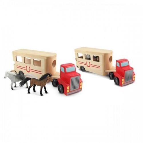 Camion Transportor de Cai cu Remorca
