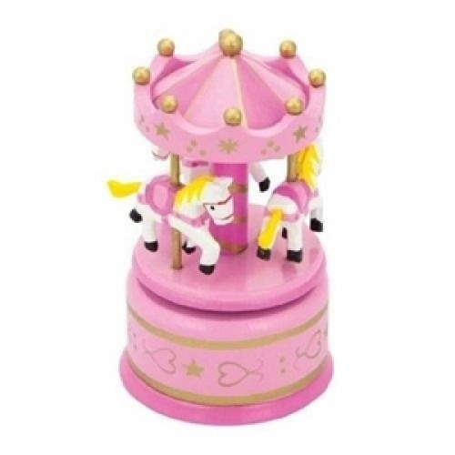 Carusel muzical pink - New Classic Toys